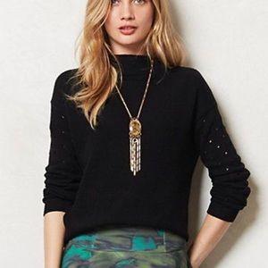 Anthropologie Moth Ceres Mockneck Pullover Sweater